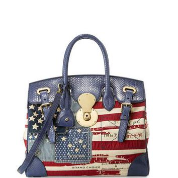 Ralph Lauren American Flag Ricky Bag, Red/Blue