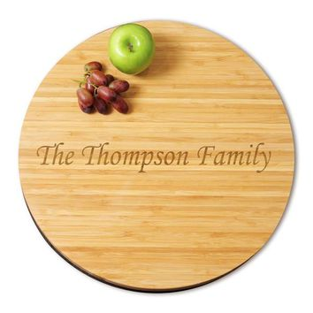 Large 16 in. Bamboo Lazy Susan