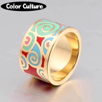 2017 Fashion Rings for Women Gilded Metal Enamel Ring Jewelry Designers Elegant Classic Ring Birthday gift for Women
