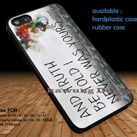 Panic! At The Disco Lyric DOP1315 iPhone 6s 6 6s+ 5c 5s Cases Samsung Galaxy s5 s6 Edge+ NOTE 5 4 3 #quote