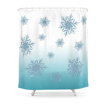 Society6 Chilly/ Inspired By Frozen Shower Curtains