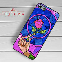 rose beauty and the beast-1nn for iPhone 4/4S/5/5S/5C/6/ 6+,samsung S3/S4/S5,S6 Regular,S6 edge,samsung note 3/4