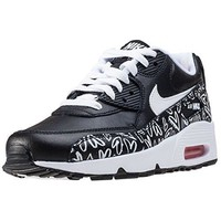 Nike Youth Air Max 90 Print Leather Trainers