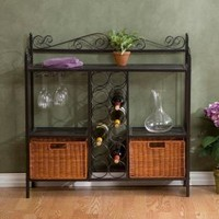 Home Decorators Collection, Celtic Gunmetal 36-1/2 in. W Baker's Rack with Wine Storage, KA9803 at The Home Depot - Mobile