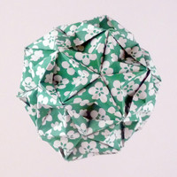 Origami Kusudama Paper Ornament Green Ball by CreativeLifeByEmily