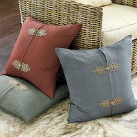 Lacey Frog Knot Pillow