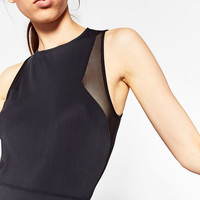 CONTRAST TULLE BODYSUITDETAILS