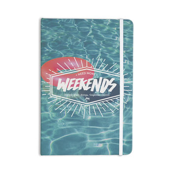 "Kess Original ""More Weekends"" Teal Pink Everything Notebook"