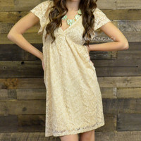 Country Gypsy Taupe Lace Baby Doll Dress