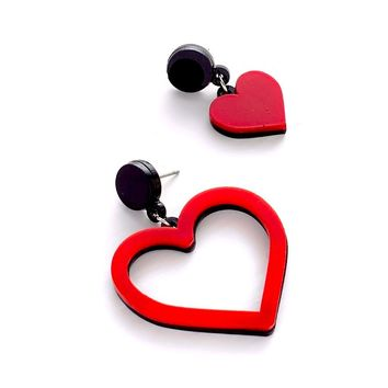 mismatched heart earring