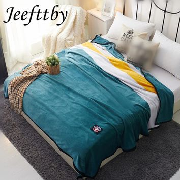 Sherpa British Style Weighted Blanket Thick Soft Throw Blanket On Sofa Bed Plane Article Plaid Adult Sheet Home Textiles