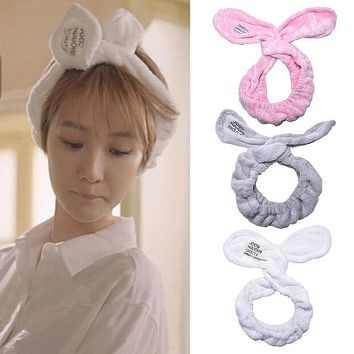 1Pc Cute Girl Big Rabbit Ear Soft Towel Hair Band Wrap Headband Turban Bow Knot Headband