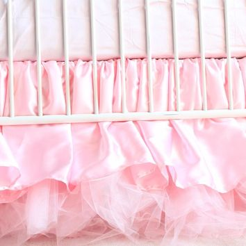 Crib Skirt | Pink Princess