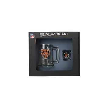 Chicago Bears Shot Glass and Mug Set - Etching Personalized Gift Item