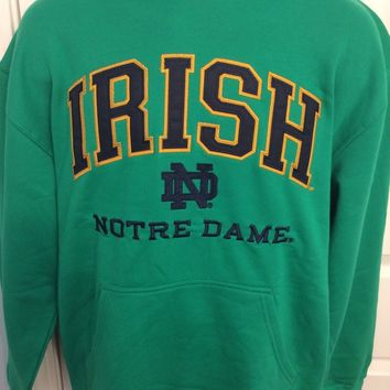 Notre Dame Fighting Irish GREEN Champion Hooded Sweatshirt - 2XL/XL/Large - NWT