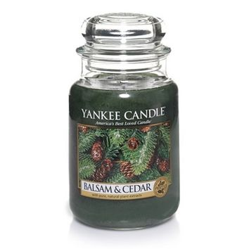 Balsam & Cedar : Large Jar Candles : Yankee Candle