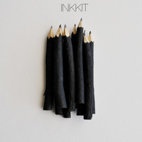 "black twig pencils - hand painted - 4"" (10 pencils)"