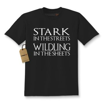 Stark In The Streets, Wildling In The Sheets GoT Kids T-shirt