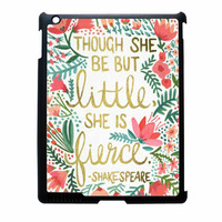 Red Flowers Though She Be But Little She Is iPad 4 Case