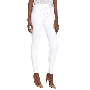 Bullocks High Rise Lace Up Jeans