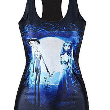 "Womens 'Corpse Bride"" on a Black Tank Top ( Runs Small)"