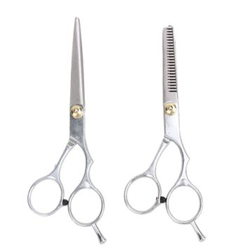 2 PCS 6 Inches Professional Cutting Thinning Hair Shears Barber Haircut Scissors Salon Hair Dressing Scissors Hair Styling Tools