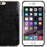 "Alligator Pattern TPU Rubber Shell Case for 5.5"" iPhone 6 Plus (Black)"