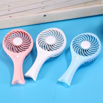 Tuansing New Mini HandHeld Fish USB Battery Rechargeable Fan Cooling Air Conditioning Fan Handheld Micro Cooler For Home Office