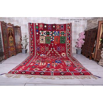 Large Moroccan rug, 8.3ft x 13.7ft