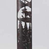 Laser Cut Metal Moose Forest Floor Lamp (Select Your Shade)