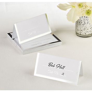 Silver Trim Place Cards 50 ct.