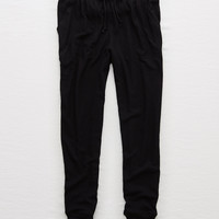Aerie Soft Plush Jogger, True Black