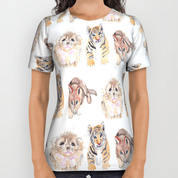 Cute animal pattern All Over Print Shirt by Knm Designs