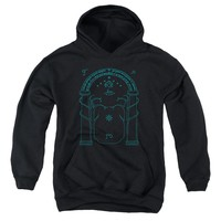 Lord Of The Rings - Doors Of Durin Youth Pull Over Hoodie