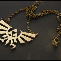 The Legend of Zelda Triforce Metal Brass Pendant