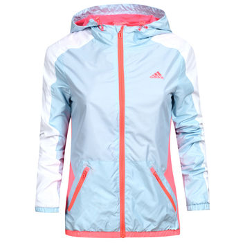 Adidas Woman Fashion Multicolor Print Long Sleeve Cardigan Jacket Coat Windbreaker