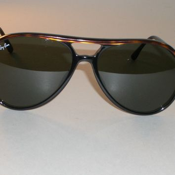 VINTAGE B&L RAY BAN TORT/BLACK BLEND STYLE A/L 1567 G15 TRADITIONALS SUNGLASSES