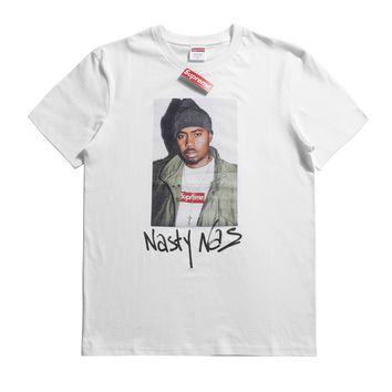 Supreme18ss 17aw / Fw Nasty Nas Photo Tee White T-shirt - Best Online Sale