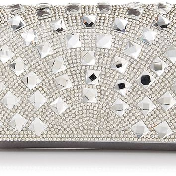 Jessica McClintock Chloe Rhinestone Sparkle Clutch Evening Purse