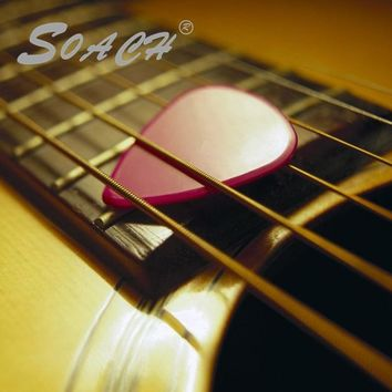 SOACH Order guitar picks made  made picks for your logo at least 100pcs custom your acoustic guitar pick plucked accessories