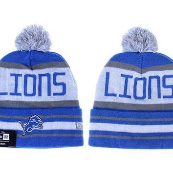 ESB8KY Detroit Lions Beanies New Era NFL Football Hat