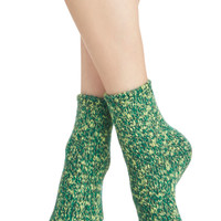 Keep the Chill Out Socks in Green | Mod Retro Vintage Socks | ModCloth.com