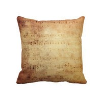 Antique Music Throw Pillows from Zazzle.com