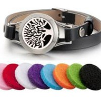 Leather Essential Oil Diffuser Bracelet