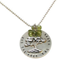 "Elisa Sullivan -  ""And the tree was happy"" Sterling Silver and Peridot Necklace"
