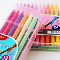12/24/36 Colors Marker Gel Pens Plus Pen Korean Stationery Gift Office Material Escolar School Supplies Liquid-Ink