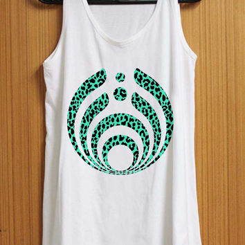 Bassnectar Mint Leopard tank top for womens and mens heppy feed