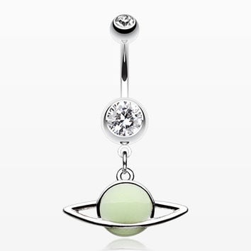 Glow in the Dark Planet Belly Button Ring