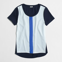 Factory colorblock pocket tee : Blouses & Tees | J.Crew Factory