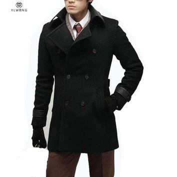 Men's Coats Jackets Wool Winter Long